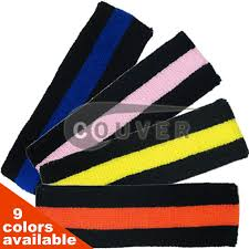 sweatbands for black striped couver signature sweatbands for sports 12pieces