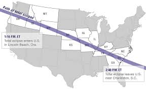 Map Of Northern Michigan by Live Map Total Solar Eclipse Crosses The U S Michigan Radio