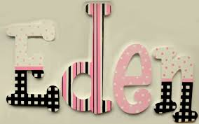 Decorative Wall Letters Nursery Custom Painted Decorative Hanging Wood Wall Letters