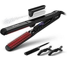 best flat iron sspray for african american hair amazon com steam hair straightener black hair straightening