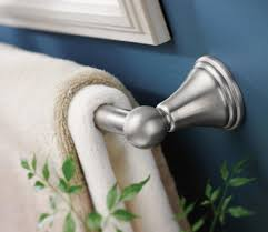 moen dn8424bn preston 24 inch bathroom towel bar brushed nickel