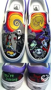 nightmare before painted shoes and sally