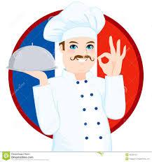 chef de cuisine fran軋is cuisine chef with mustache stock vector illustration of