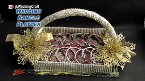 Wedding Gift Decoration Diy Wedding Gift Basket For Bangles How To Make Trousseau