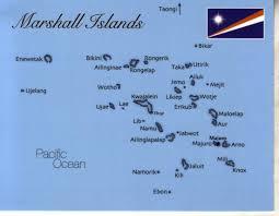 Marshallese Flag Map Of Marshall Island Mapm12 1 00 Postcard Interactive