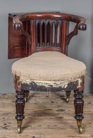 george iii mahogany and brass mounted reading chair for sale at