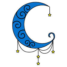 moon and hanging clipart