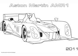 2011 aston martin amr1 coloring free printable coloring pages