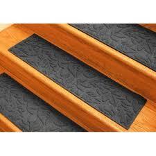 black u0026 gray stair tread rugs you u0027ll love wayfair
