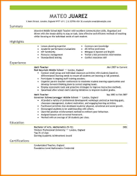 Resume Samples Normal by Resume Examples For First Grade Teachers Create Professional