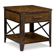 Pine End Tables Shortline End Table Distressed Pine Value City Furniture And
