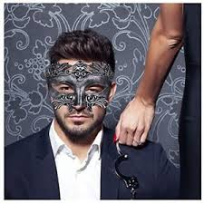 mens venetian mask silver black masquerade mask men venetian mask party happy