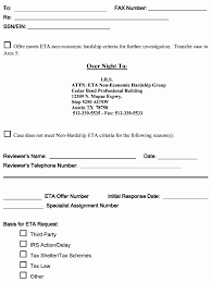 Irs Fax Cover Sheet by 5 8 11 Effective Tax Administration Internal Revenue Service