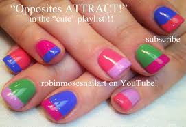 easy rainbow french manicure nail art design tutorial youtube