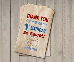 Birthday Favor Bags by Boy Birthday Favor Bags Baseball Bags Birthday Favor