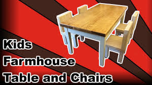 Kids Farmhouse Table Kids Farmhouse Table Youtube
