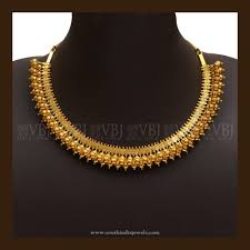 gold necklace simple design images Simple gold necklace designs south india jewels jpg