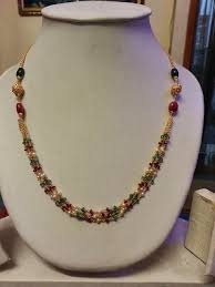 long pearl beaded necklace images Beads jewellery jpg