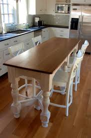 kitchen dining room furniture white narrow dining table have 4 white wood chairs above wood