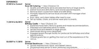 Server Job Description Resume Sample by Fine Dining Server Job Description Fine Dining Server Resume