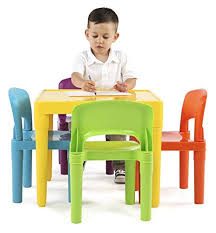 tot tutors table and chair set tot tutors kids plastic table and 4 chairs set vibrant colors