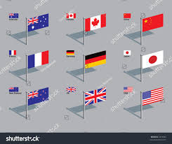 West German Flag Flags Australia Canada China France Germany Stock Vector 2973043