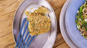 cuisine plus dijon baked fish with dijon and nutty breadcrumbs recipe