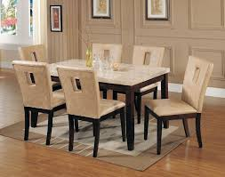 spacious small marble top dining table of room sets with tops