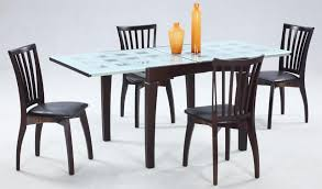Frosted Glass Dining Table And Chairs Dining Room Frosted Glass Dining Table Top Come With Varnished
