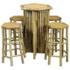 Tiki Outdoor Furniture by Bamboo Table And Stools S 5 Tiki Bar Table And Stools Outdoor