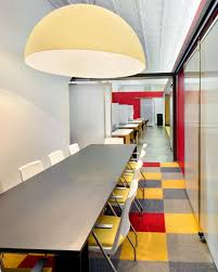 longest meeting room interior design with colorful floor