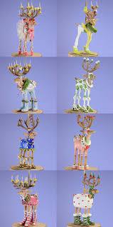 amazon com patience brewster set of 8 mini dashaway reindeer