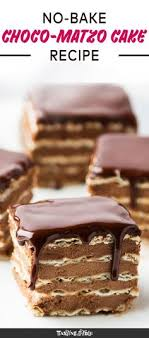 matzos for passover icebox matzo cake recipe chocolate icing dips and layering