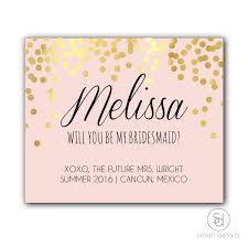 Bridesmaid Invitation Cards Amazon Com Will You Be My Bridesmaid Gold Foiled Custom