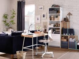 Ikea Office Desks For Home A Neat And Space Saving Desk In Bamboo Ikea