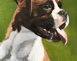 boxer dog art boxer dog painting etsy