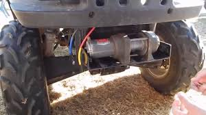 how to install a warn winch on an atv youtube
