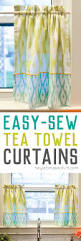 Easy Sew Curtains Easy Tea Towel Curtains Simple Beginner Sewing Project