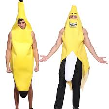 mardi gras halloween costumes unisex banana fruit costume fancy dress for hen stag night party