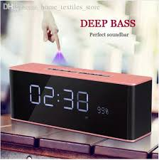 2018 sale alarm clock with bluetooth speaker and fm radio
