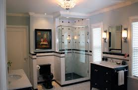 Bathrooms By Design Black And White Contemporary Traditional Bathroom Milwaukee
