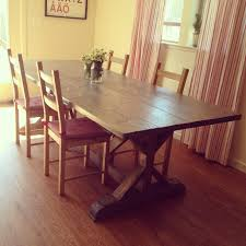 Anthropologie Dining Room Ana White Anthropologie Inspired Fancy X Farmhouse Table