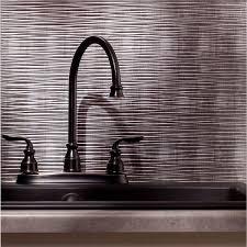 Fasade Backsplash Panels Reviews by Fasade Ripple Crosshatch Silver 18 In X 24 In Backsplash Panel