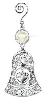 grandmother ornament silver bells ornament