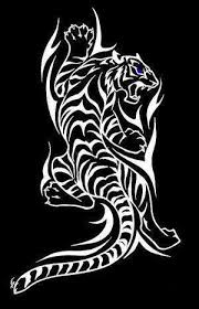 collection of 25 climbing tribal tiger design