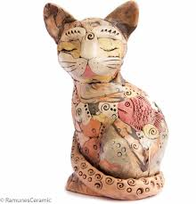 Statue For Home Decoration Large Cat Sculpture Modern Home Decor Figurine Statue Collectible