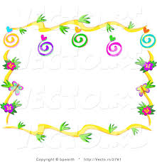 vector of floral vines border design with swirls hearts and bugs