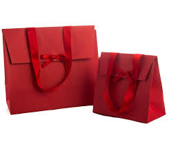 present bags 5 kraft paper gift bags with ribbon handles velcro closure and a