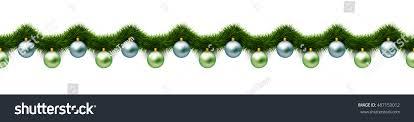 hanging green silver balls green stock vector 487153012