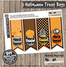 halloween treat bags instant download party decoration trick or